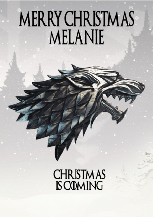 Personalised Game of Thrones Christmas Card